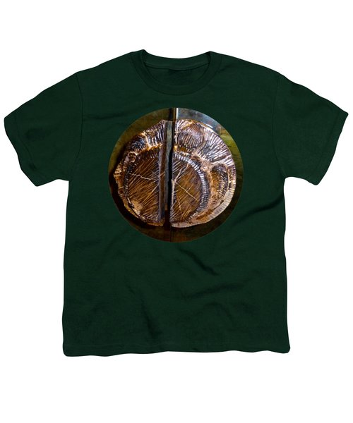 Youth T-Shirt featuring the photograph Wood Carved Fossil by Francesca Mackenney