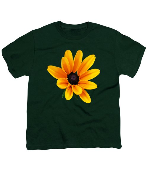 Yellow Flower Black-eyed Susan Youth T-Shirt