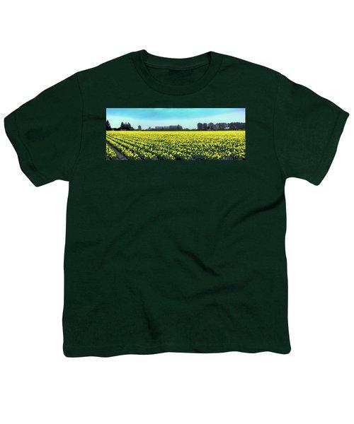 Yellow Tulip Fields Youth T-Shirt by David Patterson