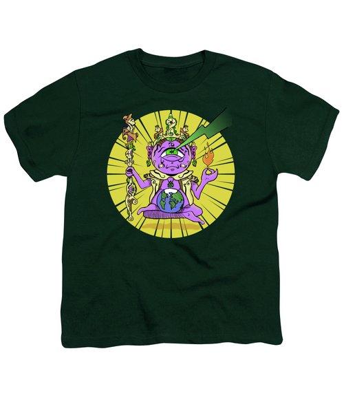 Youth T-Shirt featuring the digital art Zen by Sotuland Art