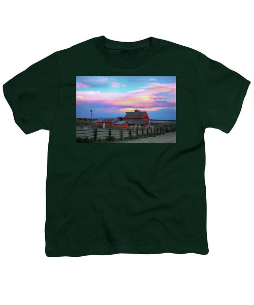 Youth T-Shirt featuring the photograph Ghost Horses Pastel Sky Timed Stack by James BO Insogna