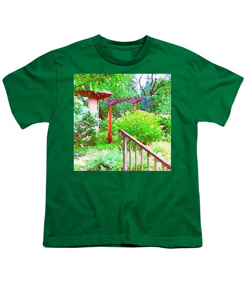 Garden Path With Arbor Youth T-Shirt