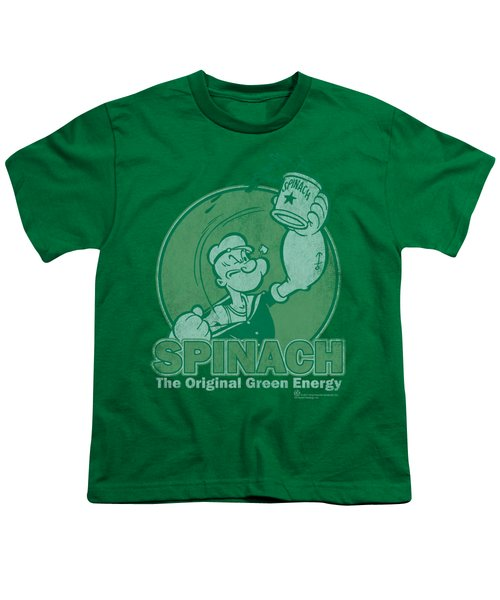 Popeye - Green Energy Youth T-Shirt by Brand A
