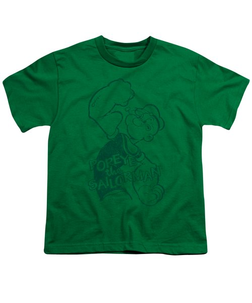 Popeye - Spinach Strong Youth T-Shirt by Brand A