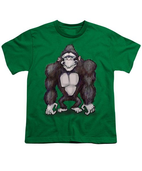 Gorilla Youth T-Shirt by Kevin Middleton