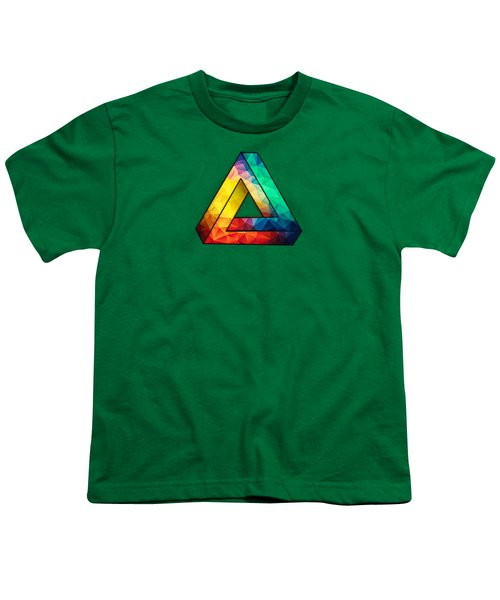 Abstract Color Wave Flash Youth T-Shirt