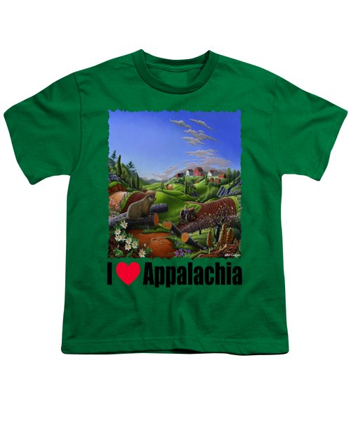 I Love Appalachia - Spring Groundhog Youth T-Shirt by Walt Curlee