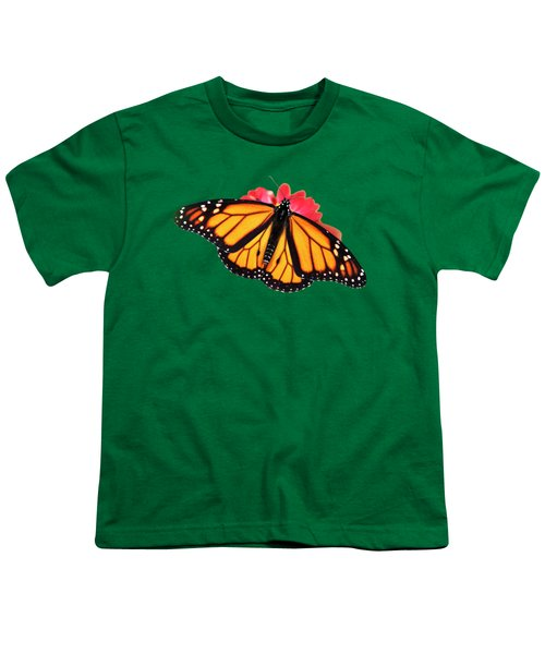 Butterfly Pattern Youth T-Shirt by Christina Rollo