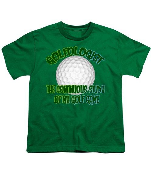 Golfologist Youth T-Shirt