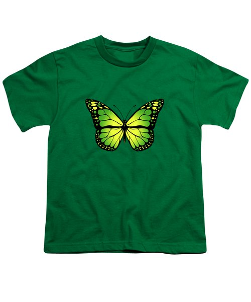 Green Butterfly Youth T-Shirt by Gaspar Avila