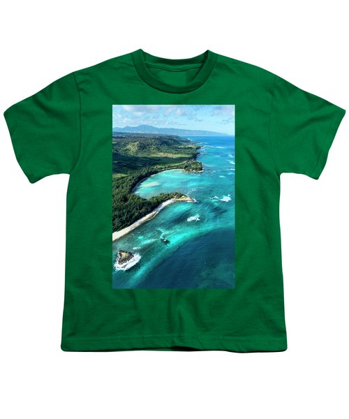 Kawela Bay, Looking West Youth T-Shirt