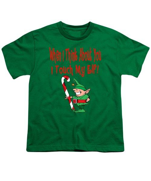 Naughty Christmas Elf Youth T-Shirt
