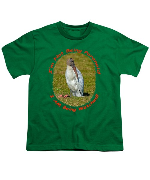 Paranoid Woodstork Youth T-Shirt