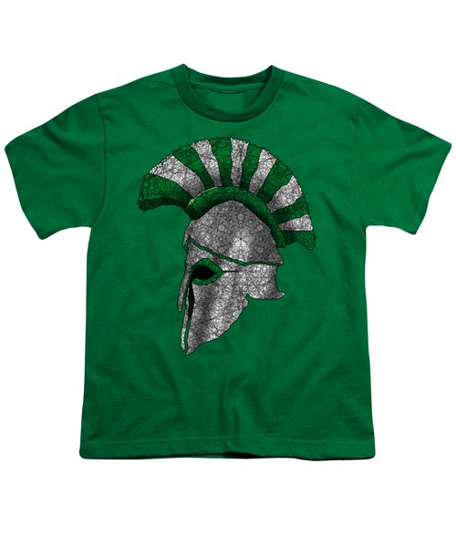 Spartan Helmet Youth T-Shirt by Dusty Conley