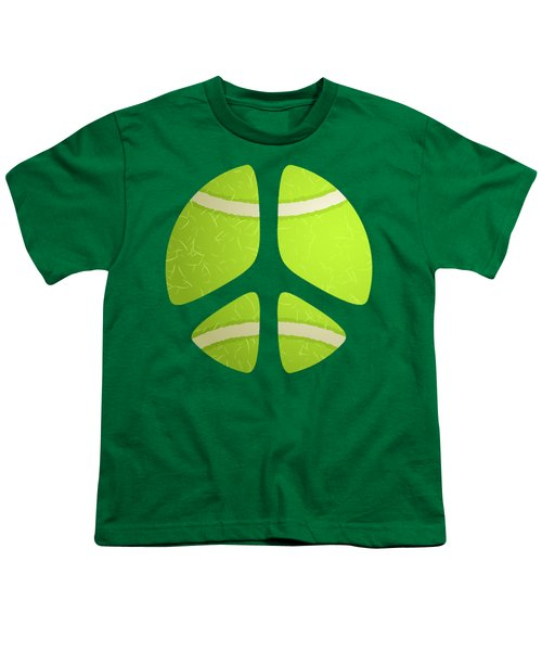 Tennis Ball Peace Sign Youth T-Shirt by David G Paul