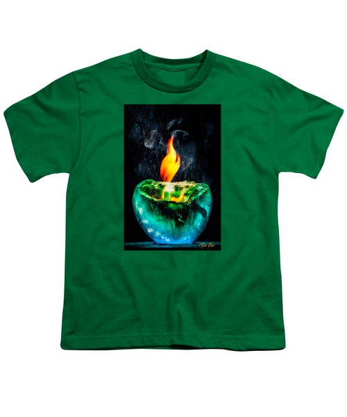 Youth T-Shirt featuring the photograph The Winter Of Fire And Ice by Rikk Flohr