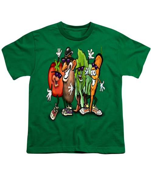 Veggies Youth T-Shirt by Kevin Middleton
