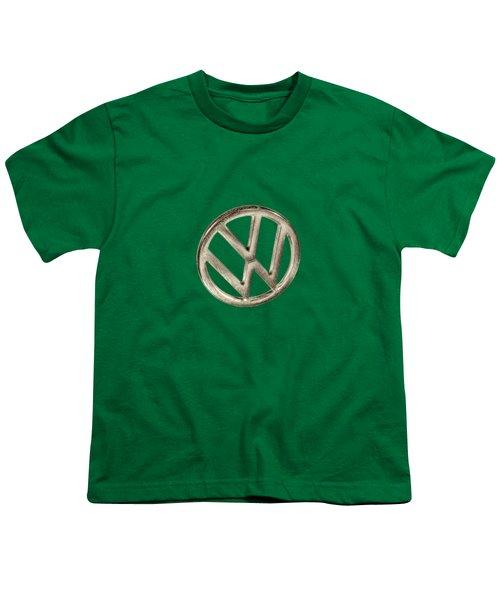 Vw Car Emblem Youth T-Shirt