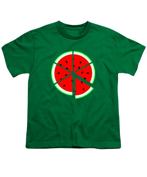 Watermelon Wedge Youth T-Shirt by Susan Eileen Evans