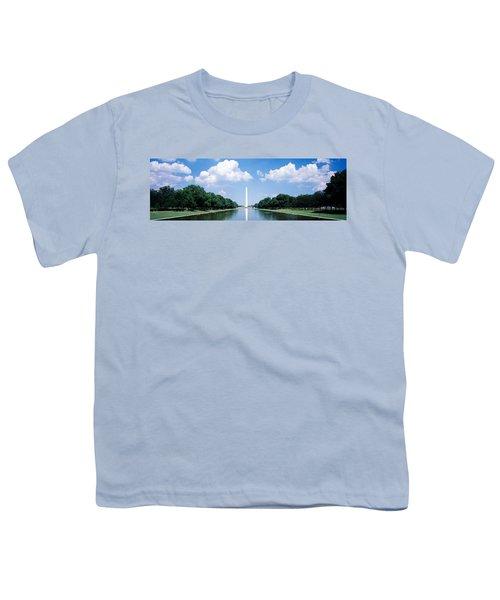 Washington Monument Washington Dc Youth T-Shirt by Panoramic Images