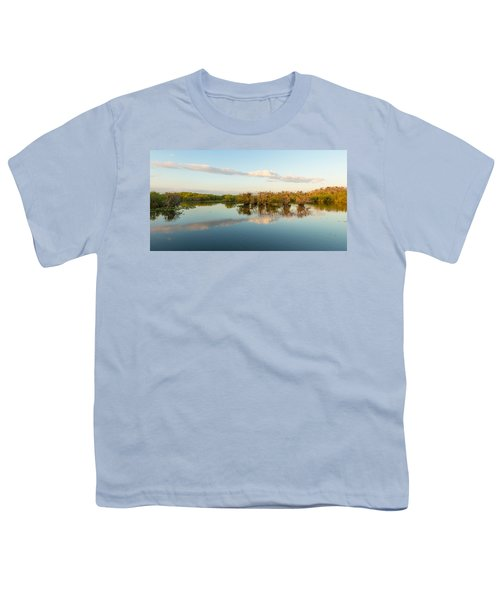 Reflection Of Trees In A Lake, Anhinga Youth T-Shirt