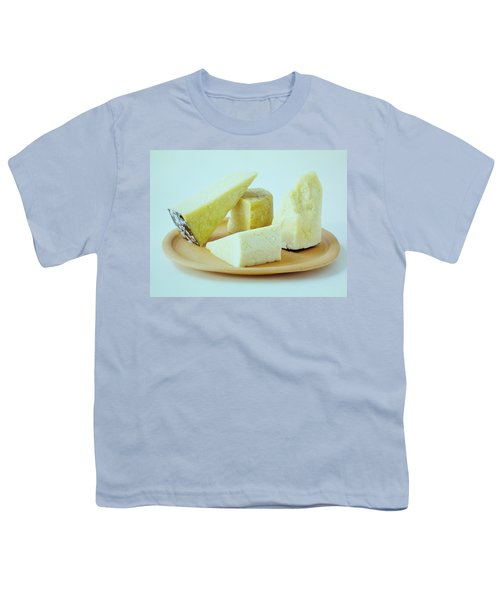 A Variety Of Cheese On A Plate Youth T-Shirt