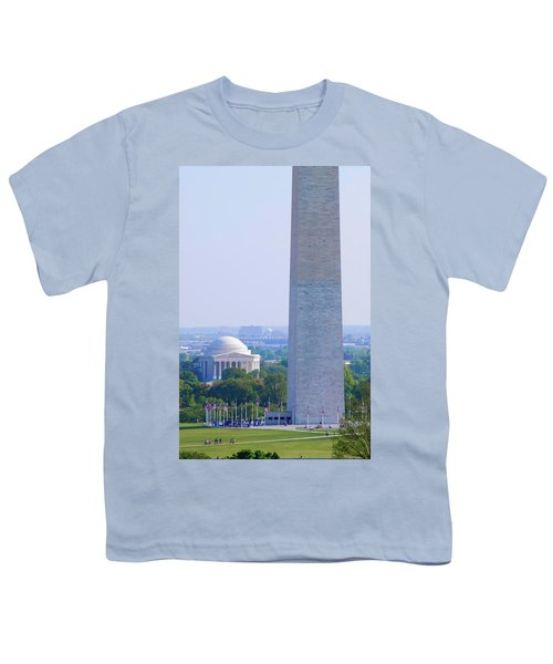 Aerial View Of Washington Monument Youth T-Shirt