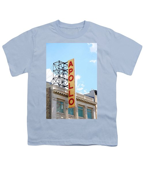 Apollo Theater Sign Youth T-Shirt by Valentino Visentini