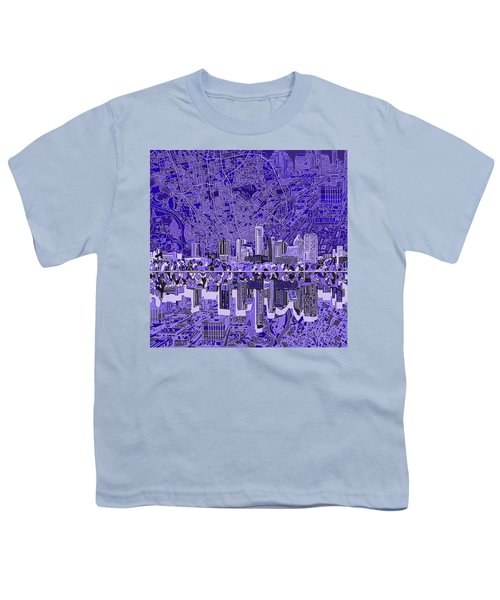 Austin Texas Skyline 4 Youth T-Shirt by Bekim Art