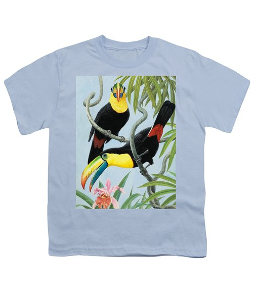 Big-beaked Birds Youth T-Shirt by RB Davis