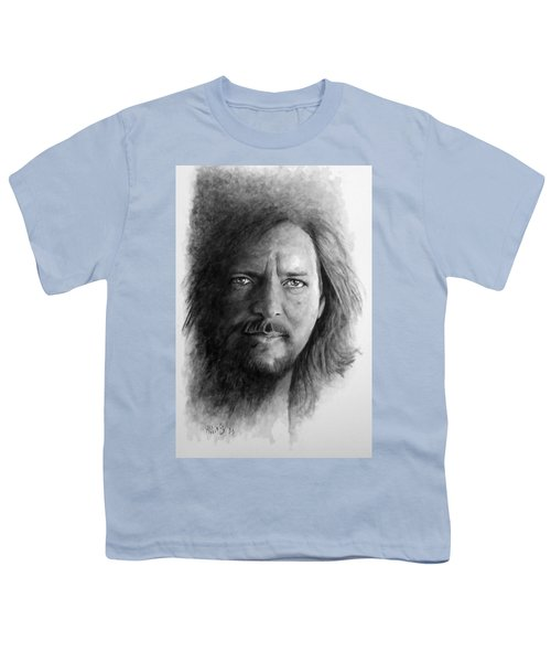 Black And White Vedder Youth T-Shirt by William Walts