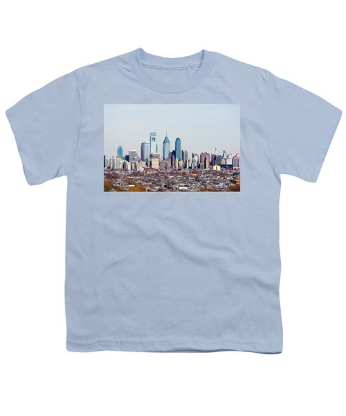 Buildings In A City, Comcast Center Youth T-Shirt by Panoramic Images
