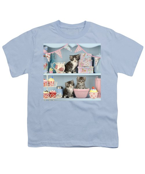 Baking Shelf Kittens Youth T-Shirt