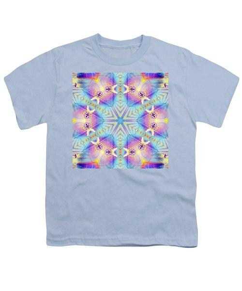 Cosmic Spiral Kaleidoscope 17 Youth T-Shirt by Derek Gedney
