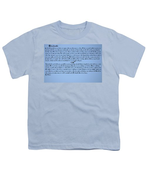 Desiderata Youth T-Shirt by Bill Cannon