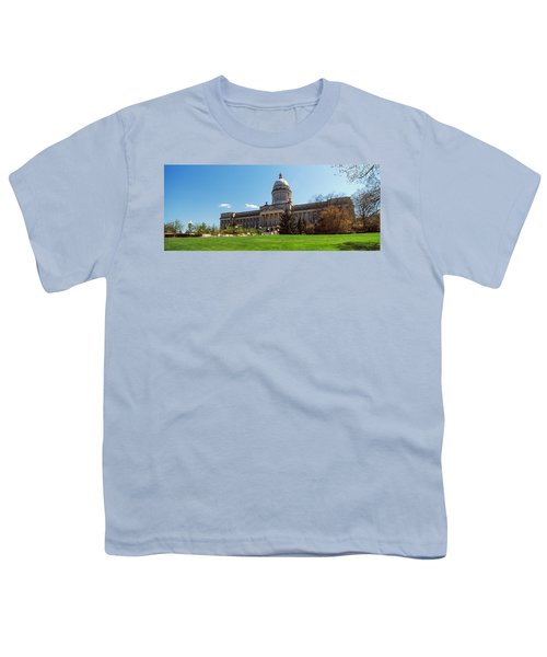 Facade Of State Capitol Building Youth T-Shirt
