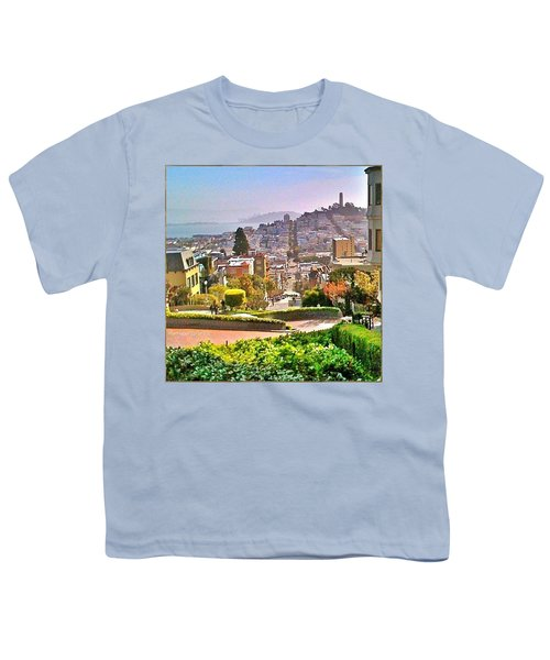 Favorite Places Lombard Street San Francisco California Youth T-Shirt by Anna Porter