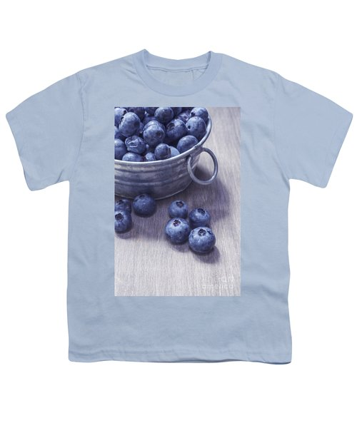 Fresh Picked Blueberries With Vintage Feel Youth T-Shirt