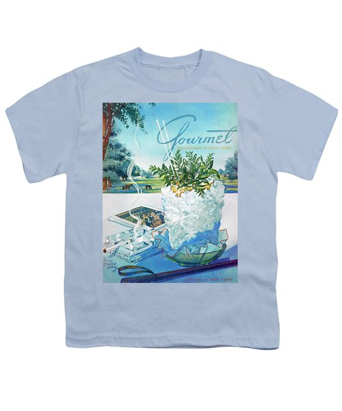 Gourmet Cover Illustration Of Mint Julep Packed Youth T-Shirt