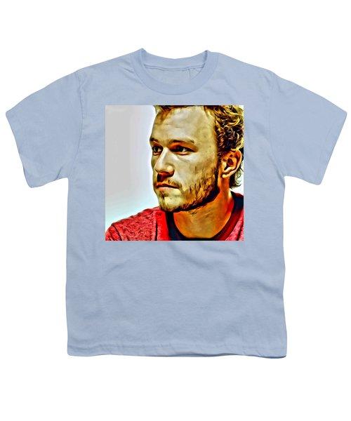 Heath Ledger Portrait Youth T-Shirt by Florian Rodarte