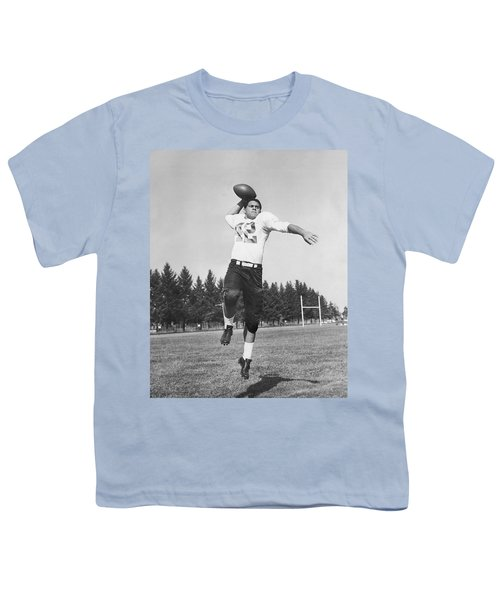 Joe Francis Throwing Football Youth T-Shirt