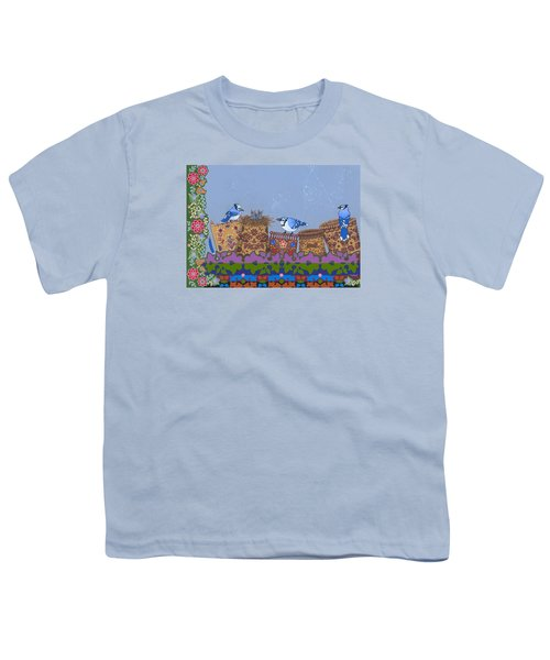 Youth T-Shirt featuring the painting Keeper Of Songs by Chholing Taha