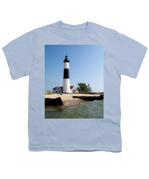Ludington Michigan's Big Sable Lighthouse Youth T-Shirt