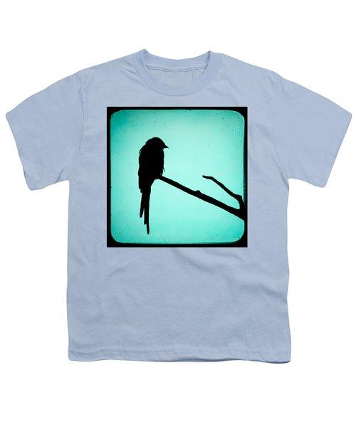 Magpie Shrike Silhouette Youth T-Shirt