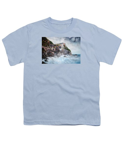 Manarola Italy Youth T-Shirt by Jean Walker