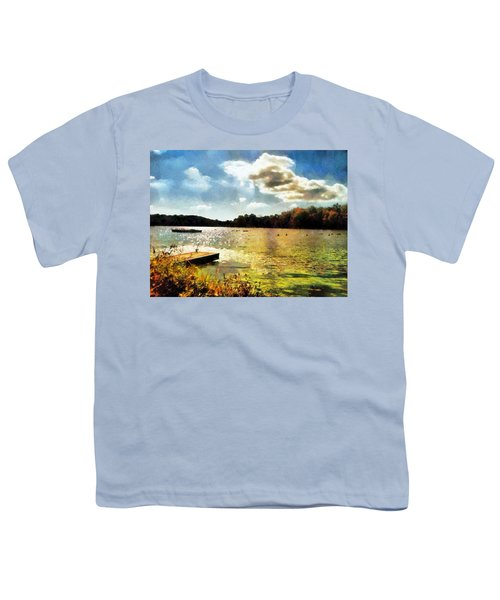 Mohegan Lake Gold Youth T-Shirt by Derek Gedney