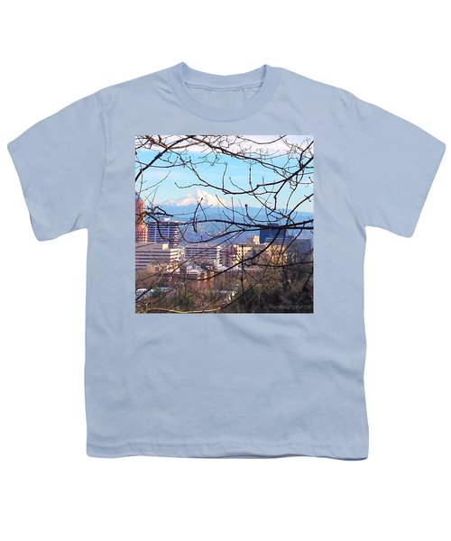 Mt Hood And Downtown Portland Youth T-Shirt