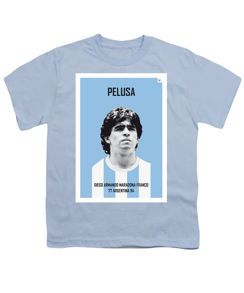 My Maradona Soccer Legend Poster Youth T-Shirt by Chungkong Art