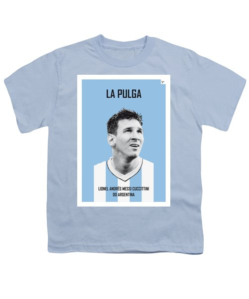 My Messi Soccer Legend Poster Youth T-Shirt by Chungkong Art