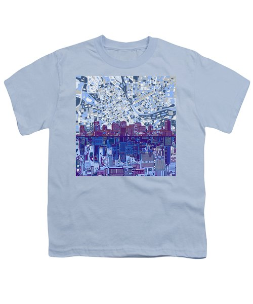 Nashville Skyline Abstract 8 Youth T-Shirt